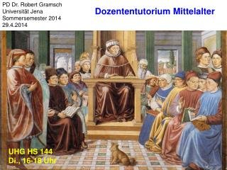 PD Dr. Robert Gramsch Universität Jena Sommersemester 2014 29.4.2014