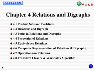 Chapter 4 Relations and Digraphs