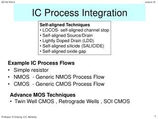 IC Process Integration