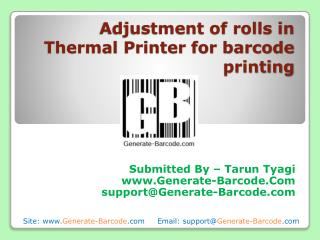 Adjustment of Rolls in Thermal Printer