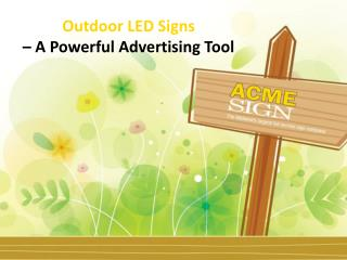 Outdoor LED Signs Kansas City - Why to Choose