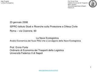 Idea Progetto La Nave Ecologistica
