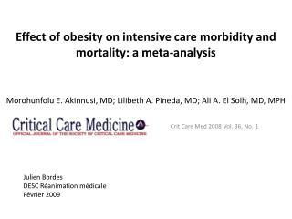 Crit  Care Med 2008 Vol. 36, No. 1