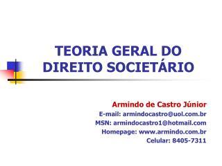 TEORIA GERAL DO DIREITO SOCIETÁRIO