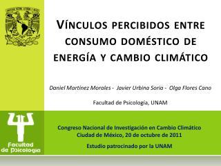 Vínculos percibidos entre consumo doméstico de energía y cambio climático