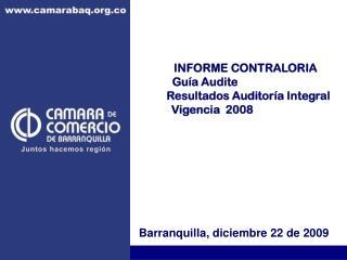 INFORME CONTRALORIA                     Guía Audite