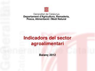Indicadors del sector agroalimentari