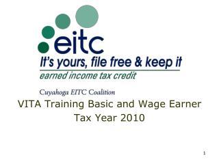VITA Training Basic and Wage Earner Tax Year 2010