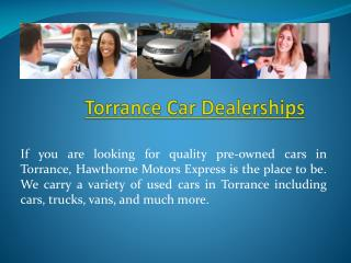Used Cars Torrance CA