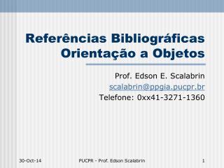 Referências Bibliográficas Orientação a Objetos