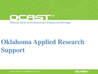 Oklahoma Applied Research Support