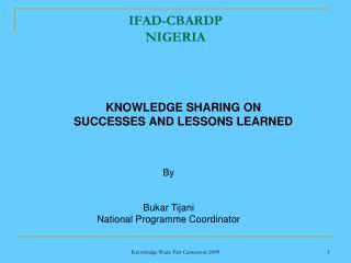 IFAD-CBARDP NIGERIA