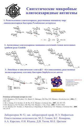 Синтетические микробные олигосахаридные антигены