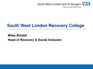 South West London Recovery College
