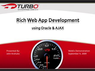 Rich Web App Development  using Oracle & AJAX