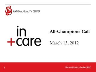 All-Champions Call  March 13, 2012