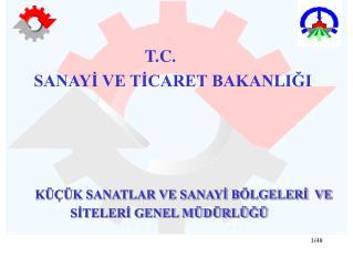 T.C.         SANAYİ VE TİCARET BAKANLIĞI