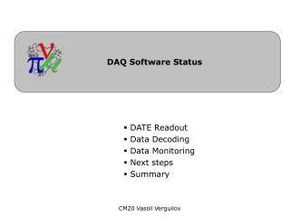 DAQ Software Status