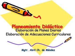 Planeamiento Didáctico