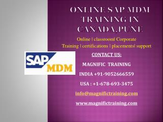 Online Sap Mdm training in canada_pune