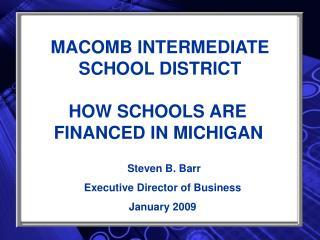 MACOMB INTERMEDIATE SCHOOL DISTRICT