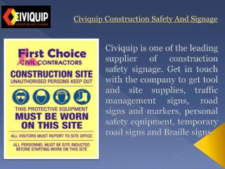 Temporary Road Signs & Markers from Civiquip