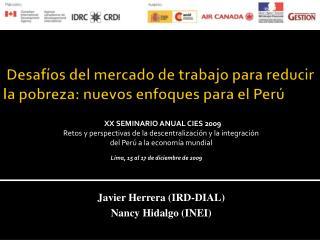 Desafíos del mercado de trabajo para reducir la pobreza: nuevos enfoques para el Perú