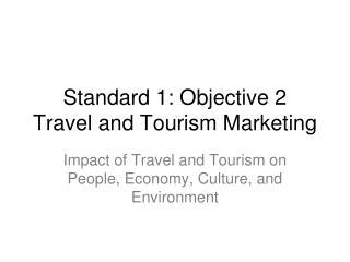 Standard 1: Objective 2