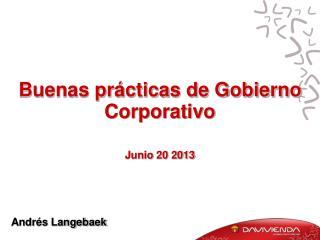 Buenas prácticas de Gobierno Corporativo