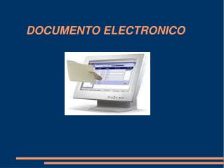 DOCUMENTO ELECTRONICO