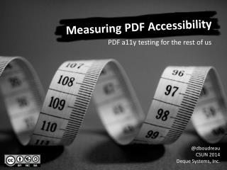 Measuring PDF Accessibility