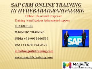 SAP CRM ONLINE TRAINING IN HYDERABAD_BANGALORE.