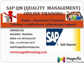 SAP QM ONLINE TRAINING IN SOUTH AFRICA