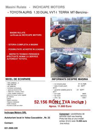 Masini Rulate   -   INCHCAPE MOTORS