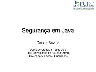 Segurança em Java