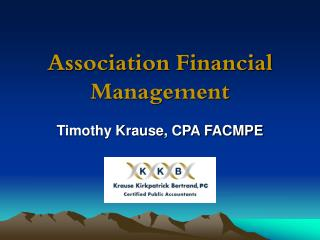 Association Financial Management