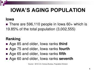 IOWA�S AGING POPULATION