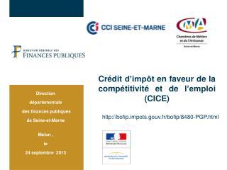 Crédit d'impôt en faveur de la compétitivité et de l'emploi (CICE)