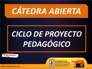 CICLO DE PROYECTO PEDAGÓGICO