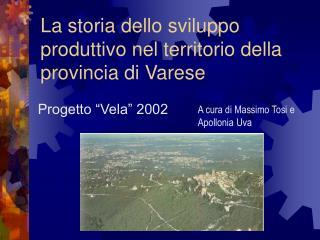La storia dello sviluppo produttivo nel territorio della provincia di Varese