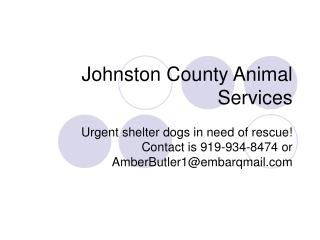 Johnston County Animal Services