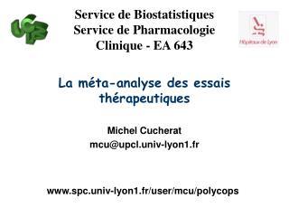 La méta-analyse des essais thérapeutiques