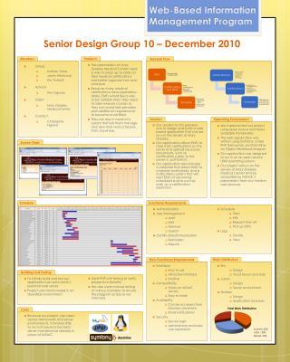 Senior Design Group 10 – December 2010