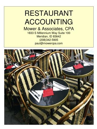 Mower & Associates is focused on increasing restaurant profitability.