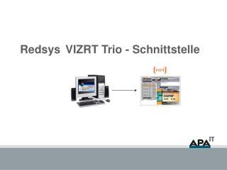 RedsysVIZRT Trio - Schnittstelle