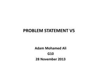 PROBLEM STATEMENT V5
