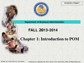 Chapter 1: Introduction to POM