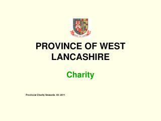 PROVINCE OF WEST LANCASHIRE