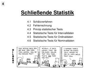 Schlie ende Statistik