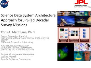 Science Data System Architectural Approach for JPL-led Decadal Survey Missions